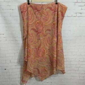 LANE BRYANT Swirl Handkerchief Skirt